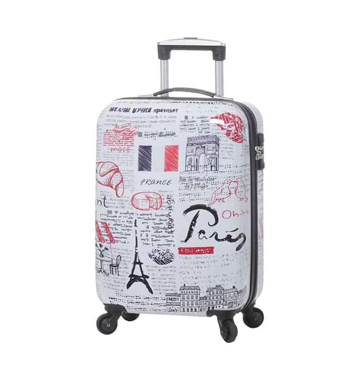 """valise cabine 55 cm à 4 roues """"Paris-champs-Elysées"""""""