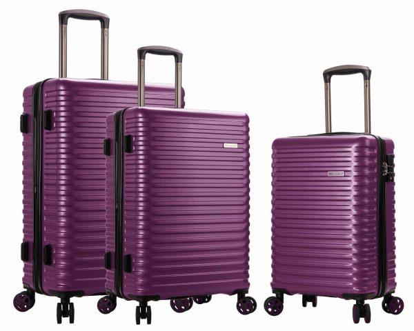 ENSEMBLE DE 3 valises Snowball pas cher violet