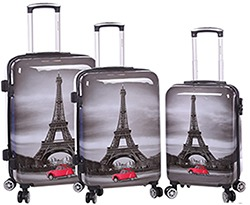 Set de 3 valises Paris Tour Eiffel