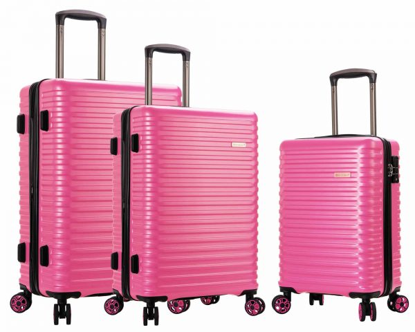 ENSEMBLE DE 3 valises Snowball pas cher ROSE