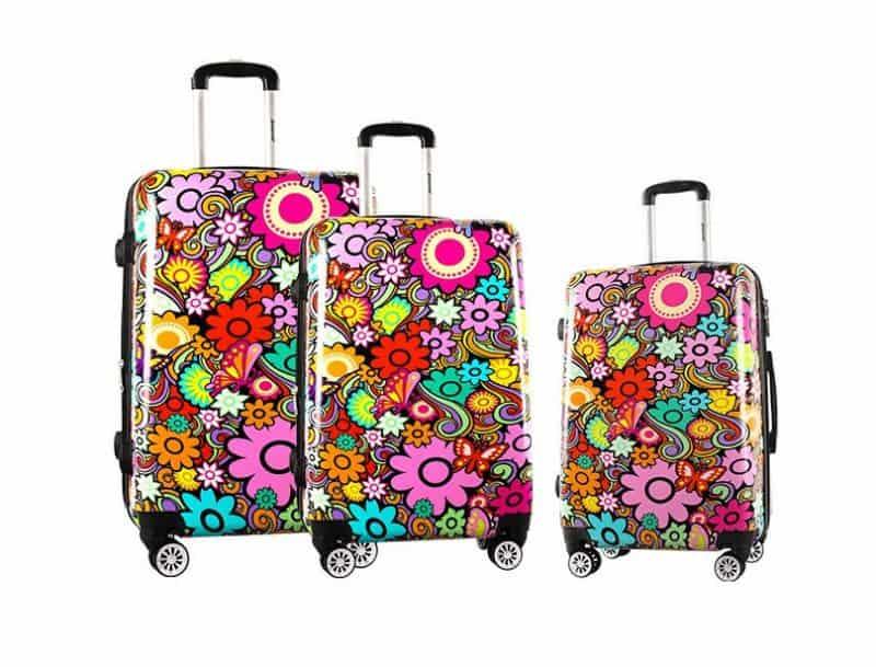 ensemble de 3 valises rigides pas cher madisson flores Z