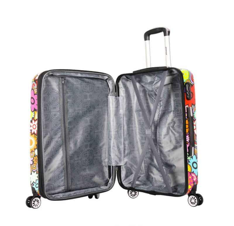 valise cabine 4 roues madisson fleurs