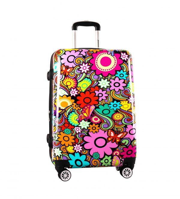 valise rigide 76 cm pas cher snowball fleurs
