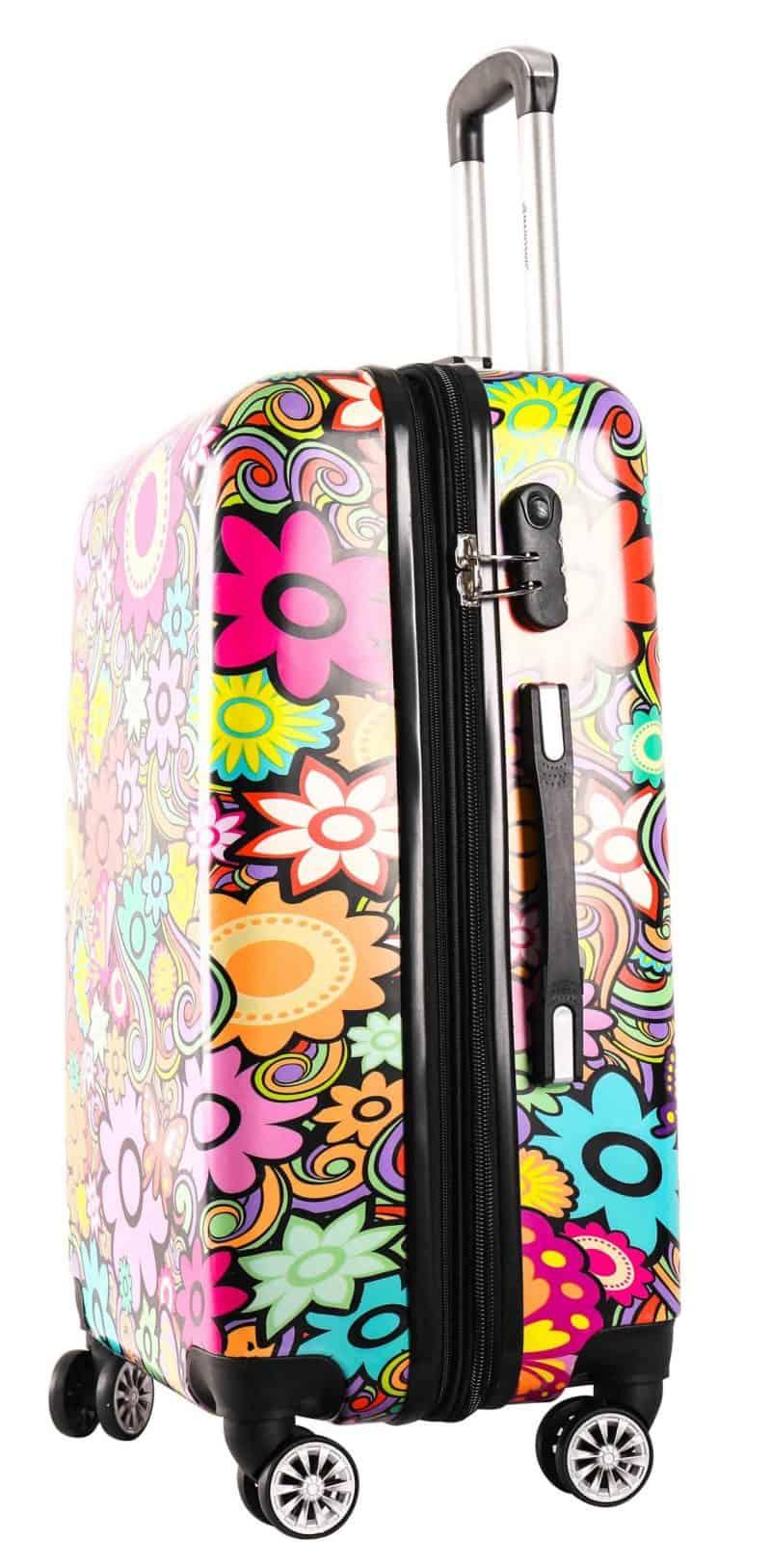 valise rigide 70 cm Madisson pas cher fleurs