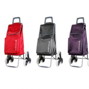 Chariot de courses de marché à 6 roues et poche isotherme