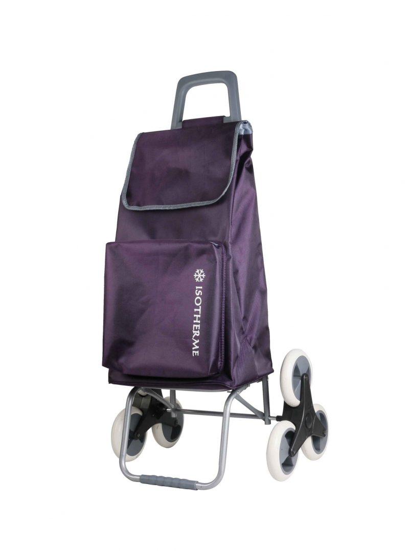 Chariot de marché 6 roues pas cher Snowball violet