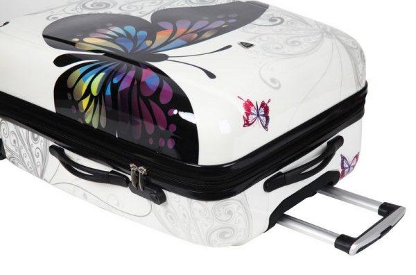 """Ensemble de 3 valises rigides """"Papillon"""""""