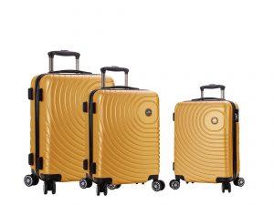 Ensemble de 3 valises pas cher jaune madisson