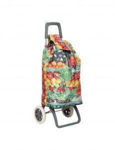 chariot et poussette de marché fruits et légumes