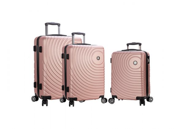 ensemble de 3 valises S M XL pas cher Madisson rose 93303