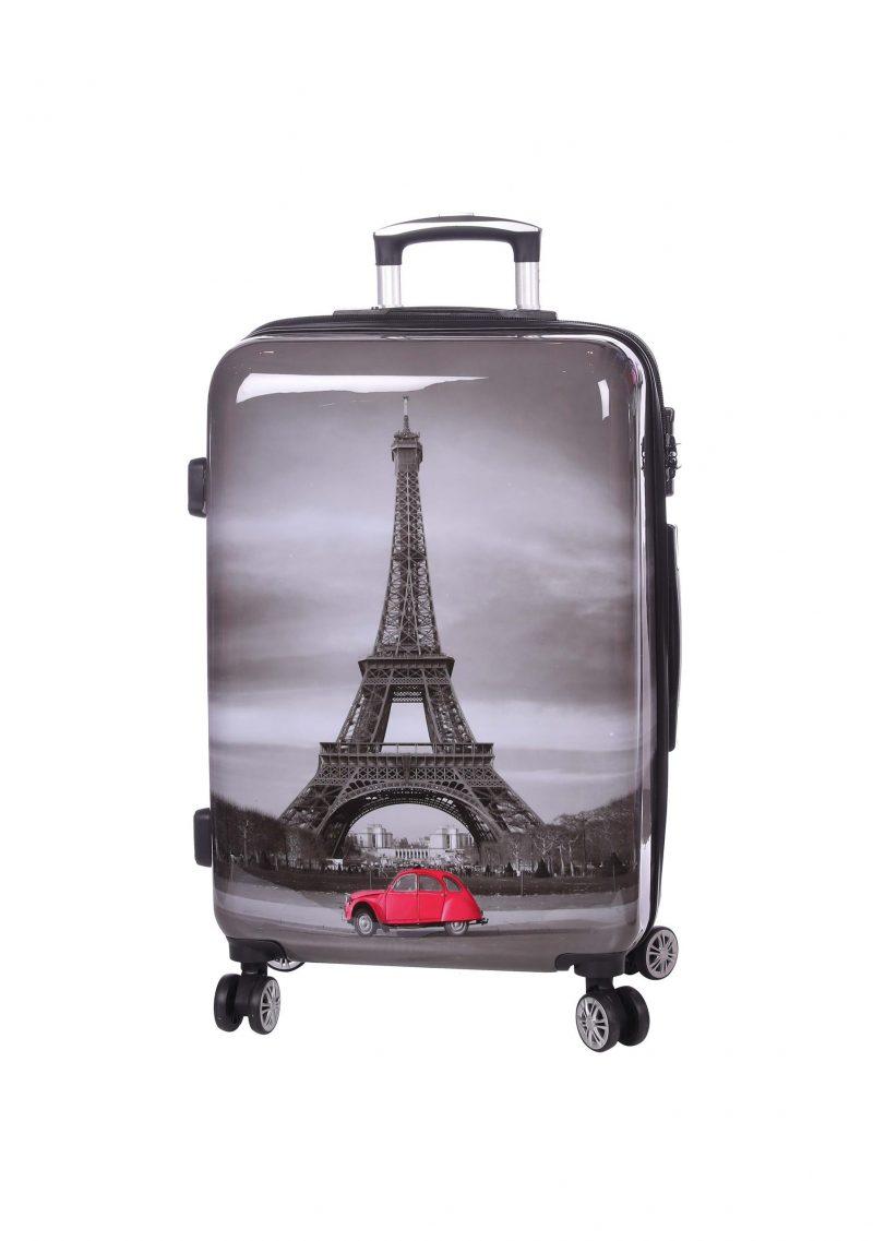 vente de valise rigide 70 cm pas cher Paris tour eiffel