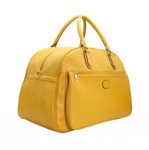 sac de voyage week end cabine femme 55 cm pas cher jaune