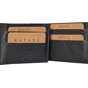 Portefeuille petit format en cuir pour homme