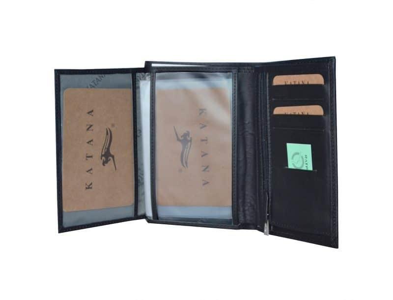 Portefeuille cuir homme katana 253018 Noir pas cher