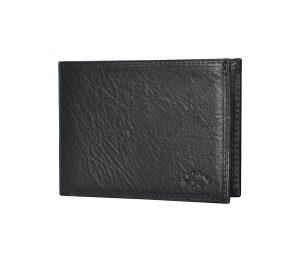 petit portefeuille en cuir noir Katana