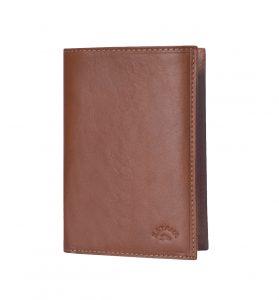 portefeuille en cuir MARRON homme katana 253018A