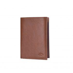portefeuille en cuir marron katana