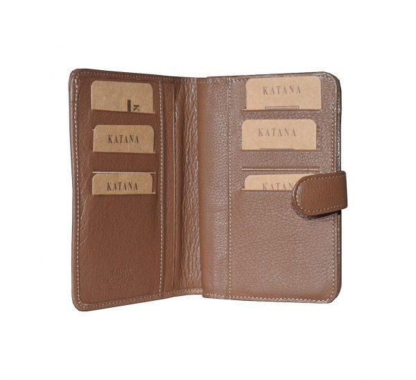 portefeuille en cuir pour femme marron 95124