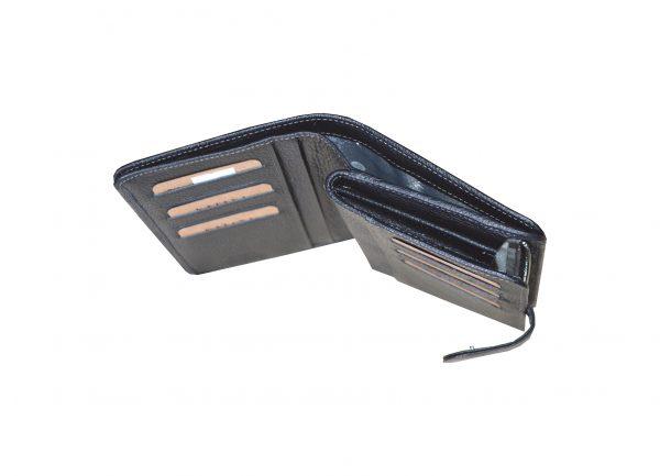 portefeuille en cuir noir pour femme 95124