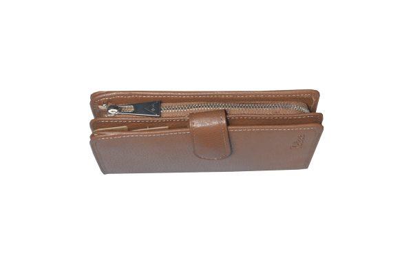 Portefeuille porte monnaie en cuir grainé katana 953124