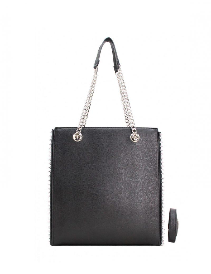 vente de grand sac à main A4 à chaînettes pas cher noir