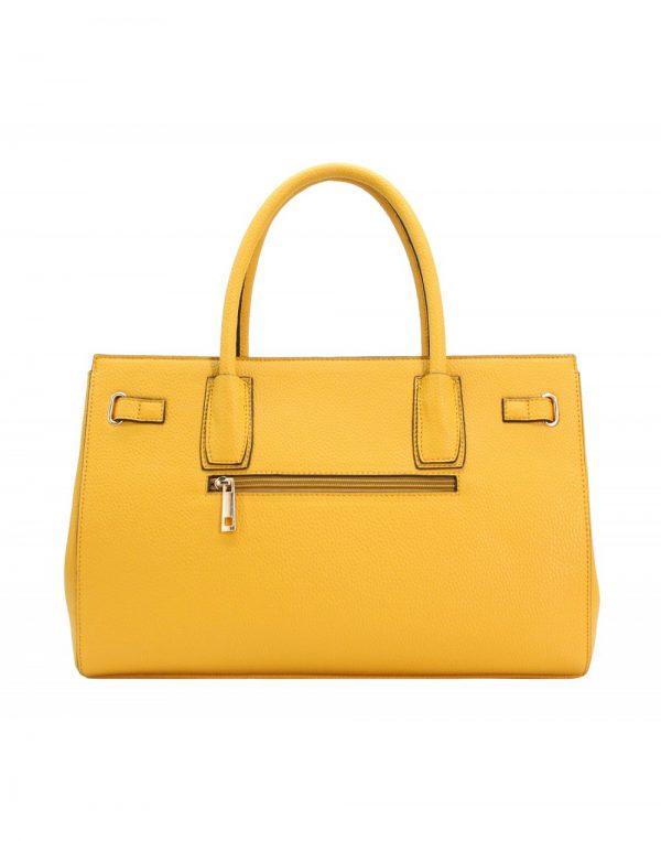 sac à main cabas jaune à cadenas