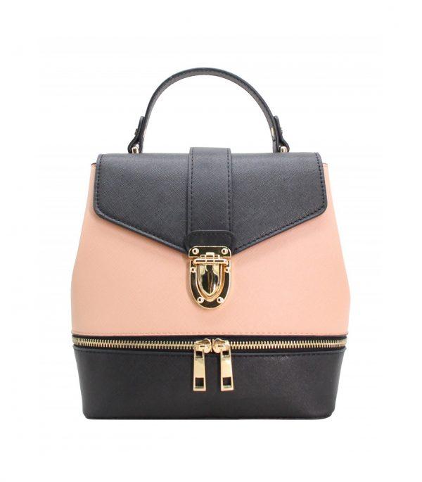 vente petit sac à main à dos pour fille rose noir pas cher