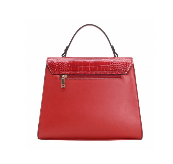 petit sac croco rouge