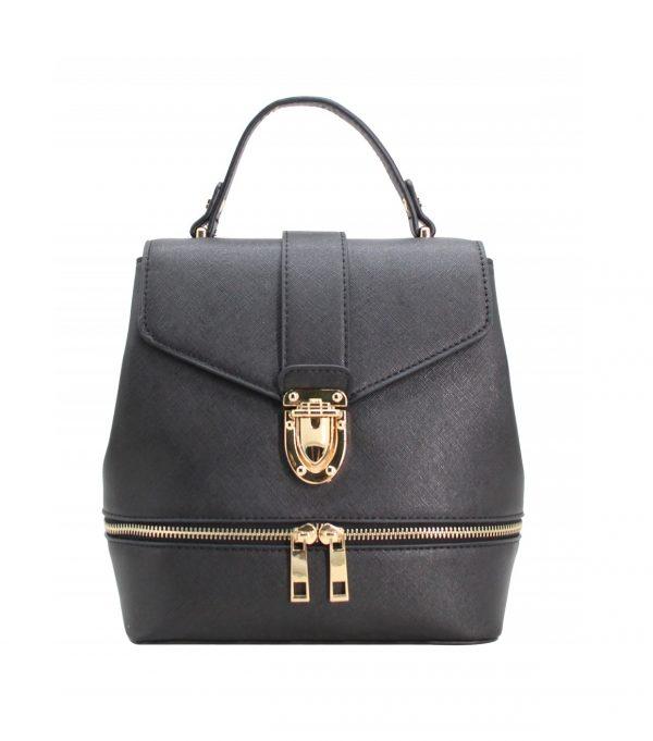 petit sac à main sac à dos mode bicolore tendance noir 282195 pas cher