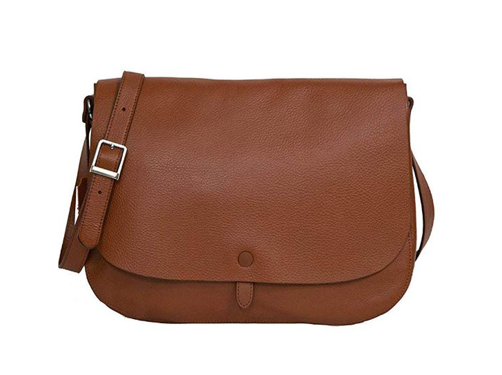 sac besace femme marron