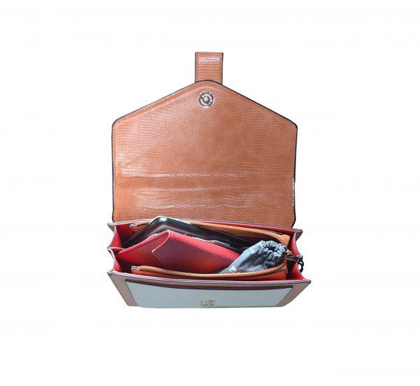 petit Sac bandoulière bicolore à chainettes 282221 intérieur