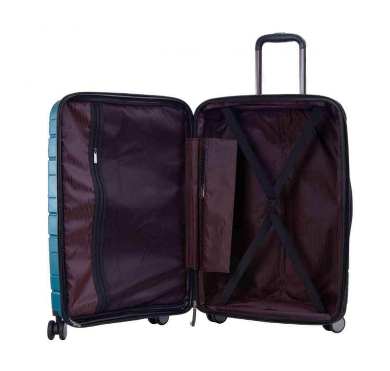 ensemble de 3 valises rigides pas cher Snowball bleu 96103