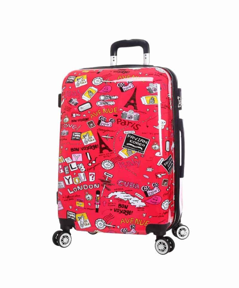 grande valise rigide rouge madisson