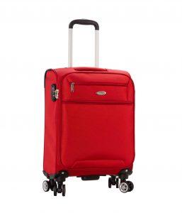 Valise cabine souple 55 cm rouge Snowball Lecce 95203