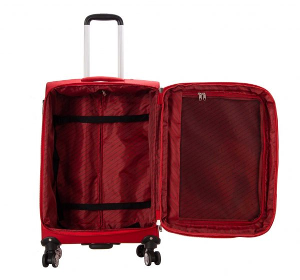 Valise cabine souple 55 cm snowball rouge 4 roues 95203 1