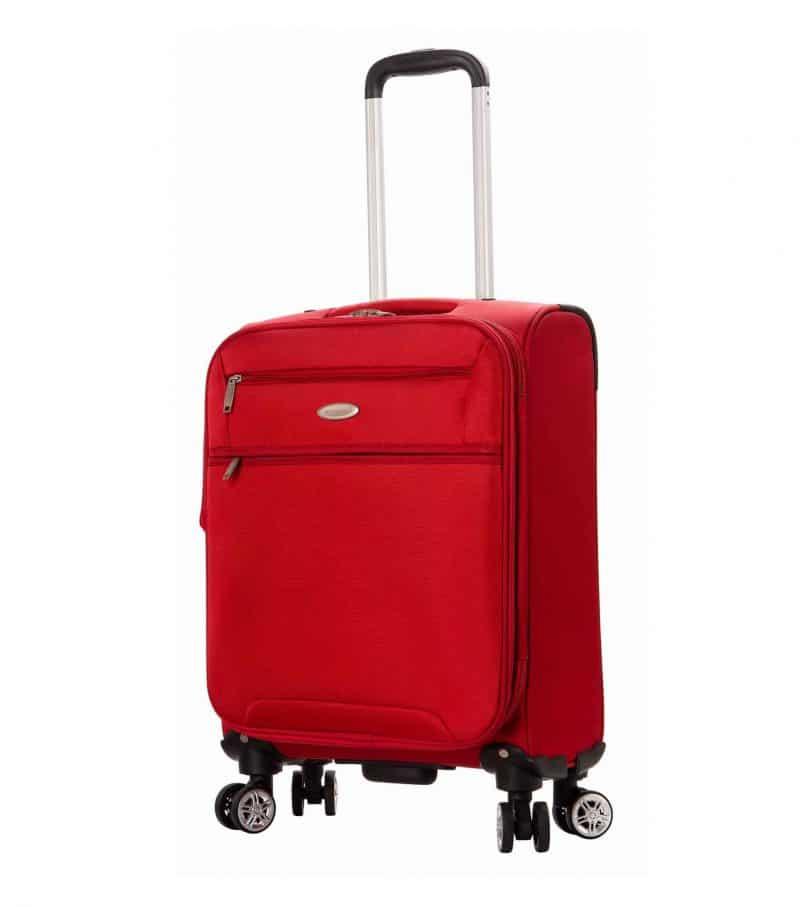 Valise cabine souple 55 cm snowball rouge pas cher 95203 1