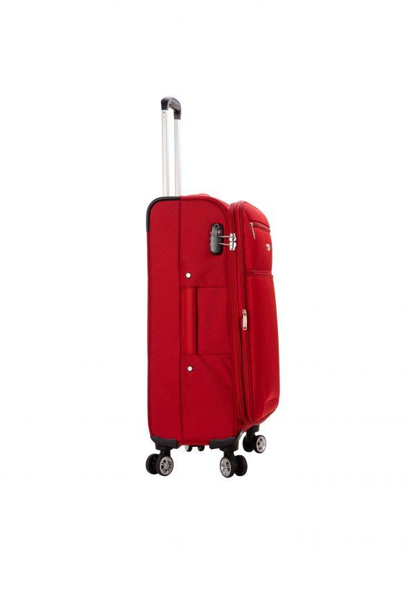 Valise cabine souple 55 cm snowball rouge tsa 95203 1