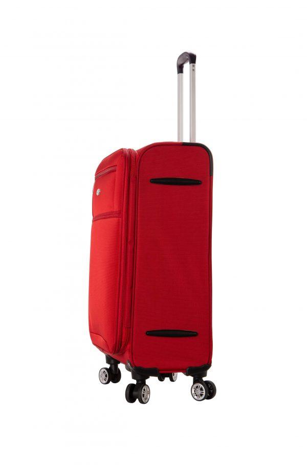 Valise cabine souple 55 cm snowball rouge ultra légère 95203 1