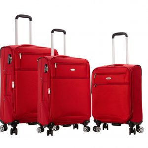 "Ensemble de 3 valises souples rouge Snowball ""Lecce"""