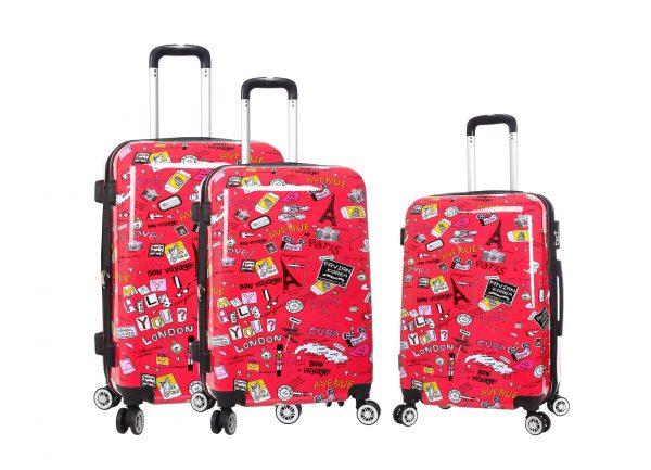 set de 3 valises rigides madisson rouge 86820GP