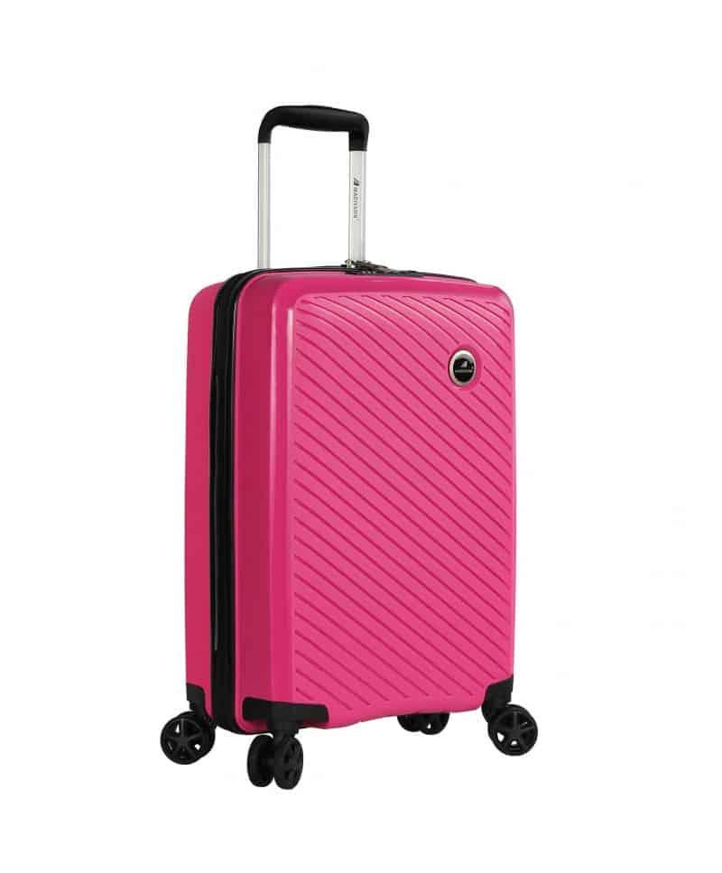 Valise cabine en polypropylène rose 04103 Madisson