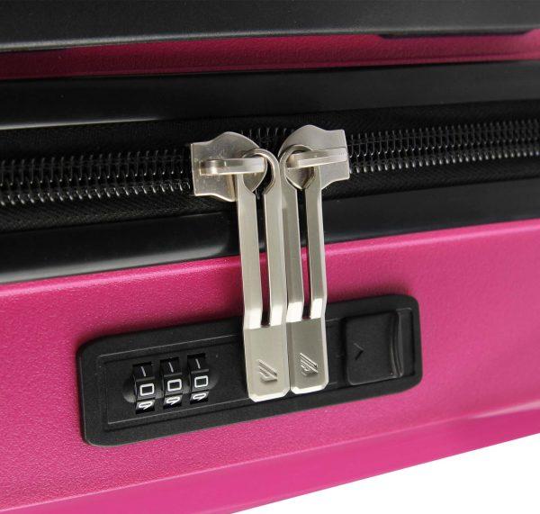 valise cabine rose polypropylène Madisson 04103c