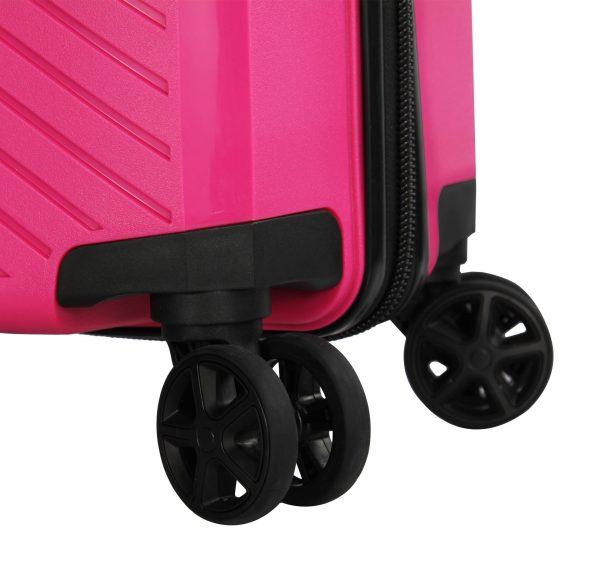 valise cabine rose polypropylène Madisson 04103n