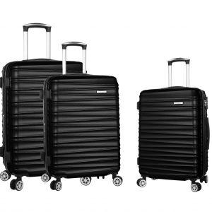Set de 3 valises rigides noir S M L Madisson Omaha