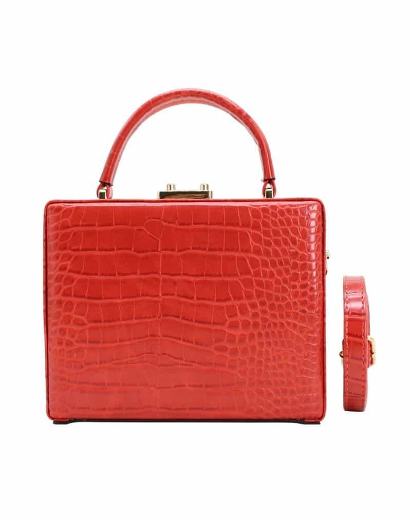 Petit-sac-à-main-rectangle-Rouge-Mode femme
