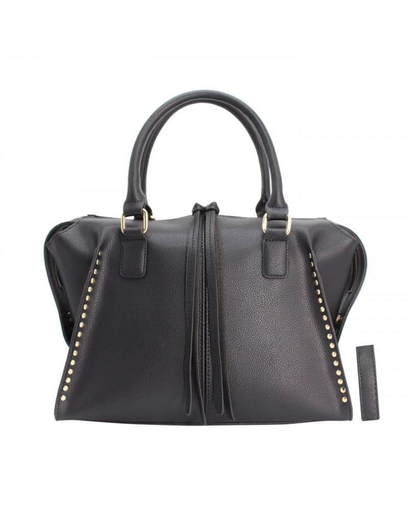sac à main clouté noir