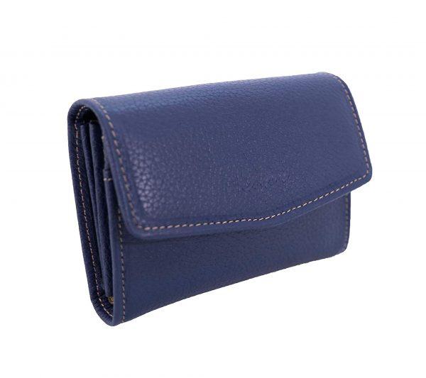 Porte monnaie en cuir pour femme katana bleu