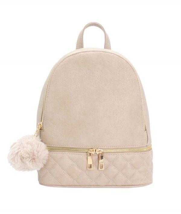 sac à dos femme beige matelassé parisac