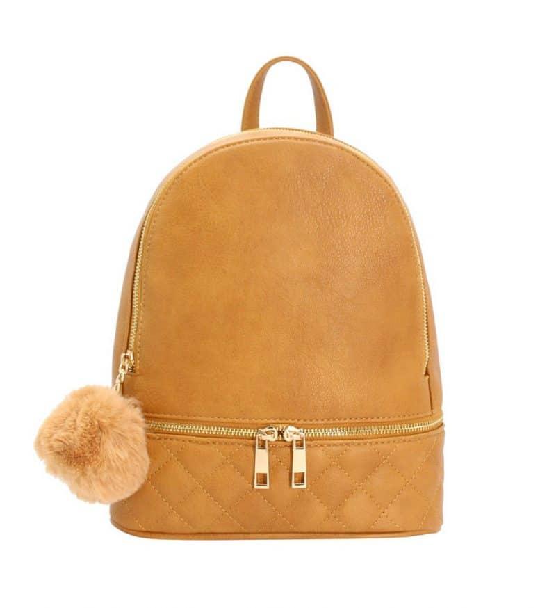 sac à dos femme-camel-matelassé-Tendance