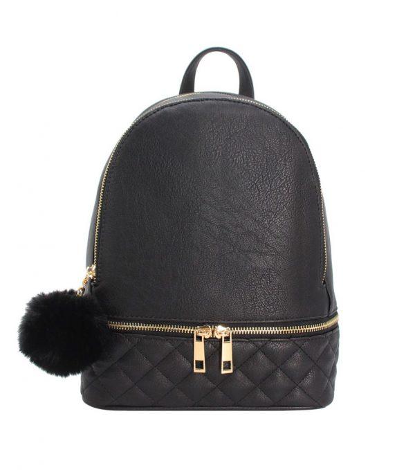 sac à dos femme noir matelassé parisac